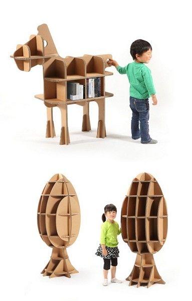 Картонная мебель для малышей из серии Tsuchinoco