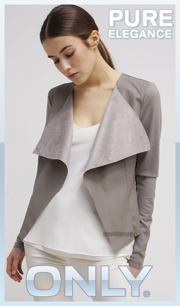 Blouson simili cuir femme gris clair
