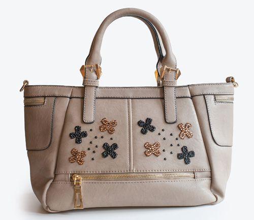 Stars, dark green handbag decorated with woven macrame and little black glitter. Adadi Accessories