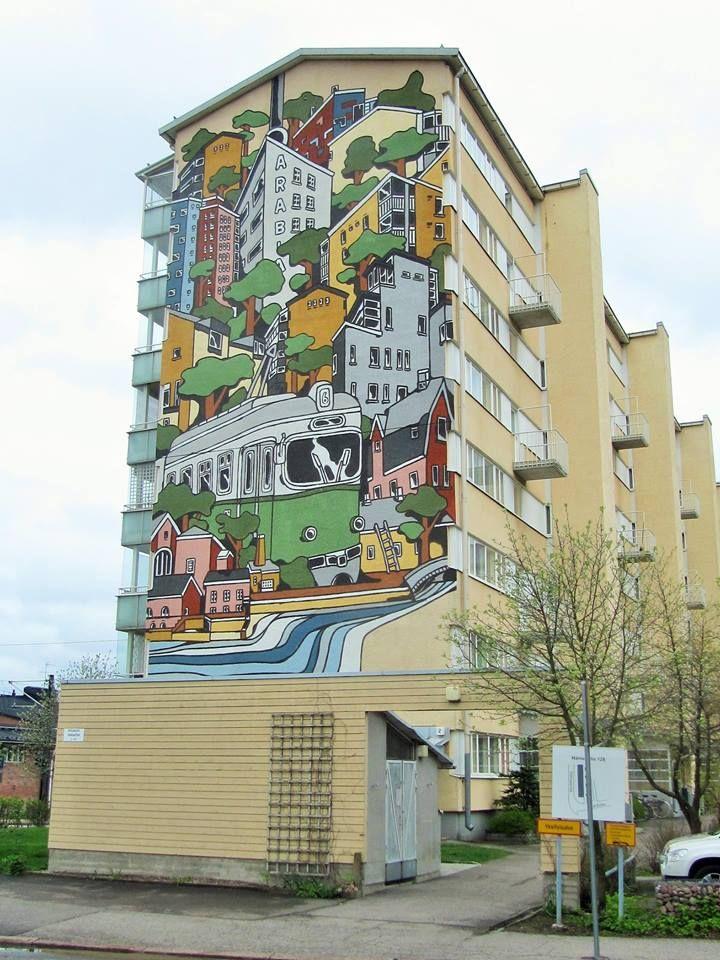 Fachada. Helsinki, Finlandia.