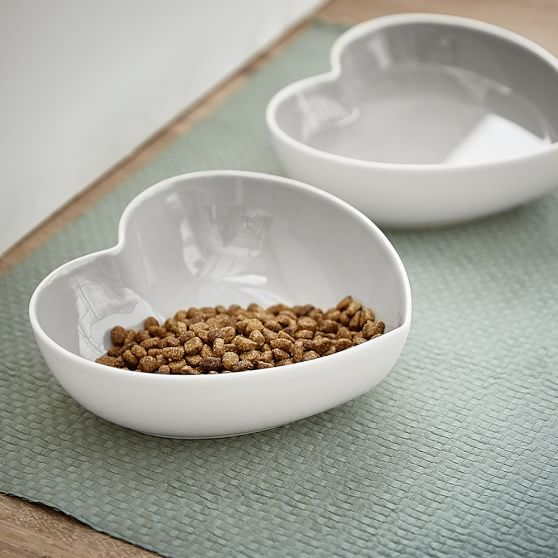 Heart Shaped Pet Bowls, Set of 2 | PBteen