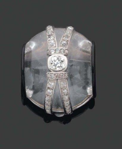 suzanne belperron rock crystal and diamond brooch