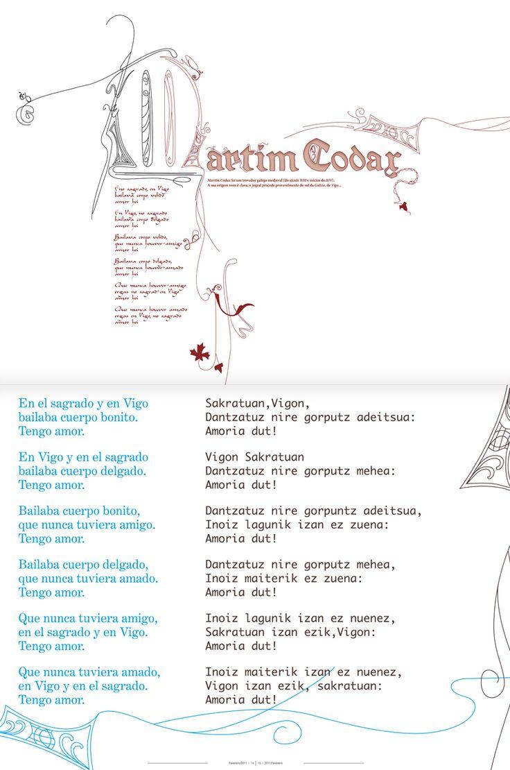 Revista Tintimám 01, Miranda estudio Vigo, Diseño de revistas, diseño editorial, diseño de catálogos, folletos, Martin Codax