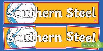 Southern Steel Netball Display Banner-Australia