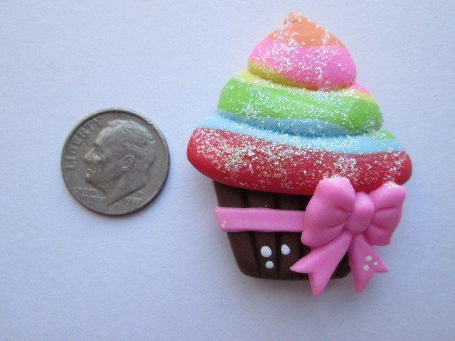 Needle Minder ~ Sweet Rainbow Sparkle Cupcake (Clay)