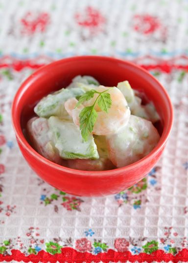 アボカドとえびのヨーグルトサラダ のレシピ・作り方 │ABCクッキングスタジオのレシピ | 料理教室・スクールならABCクッキングスタジオ