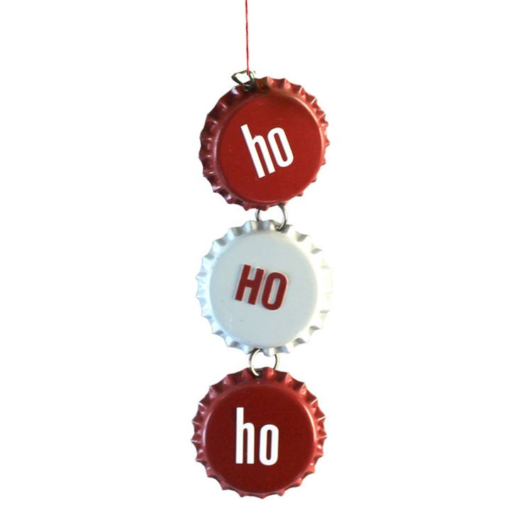 Turn three bottlecaps into an adorable, festive ornament! Use letter stickers to spell Ho Ho Ho.
