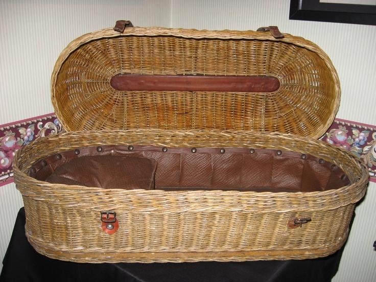 Woven Basket Casket : Victorian infant wicker casket my style