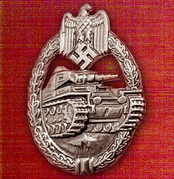 Panzer Badge, awarded by Nazi Germany, recognizing the achievements of Panzer personnel who took part in armored assaults during WW2.