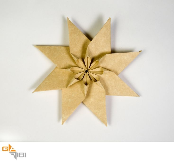 Diagrams: 8 Pointed Flowery Star   OrigamiUSA