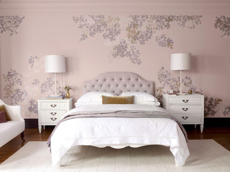 Purple Bedroom Paint Colour Scheme From Benjamin Moore
