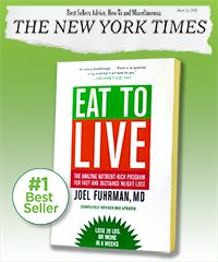 Improve health and reverse aging with Eat to Live by Dr. Joel Fuhrman, really agree with his approach, saw on Dr. Oz today.