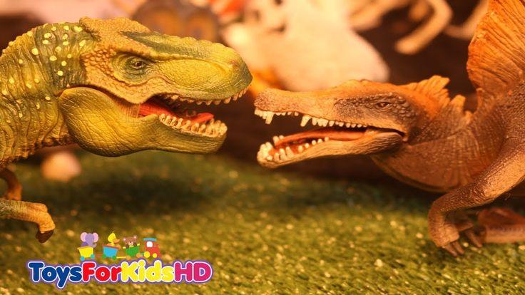 Videos de Dinosaurios para niñosT- Rex v/s Spinosaurio Juguetes de Dinosaurios /Videos Halloween
