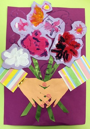 better than Picasso's flowers-cute!