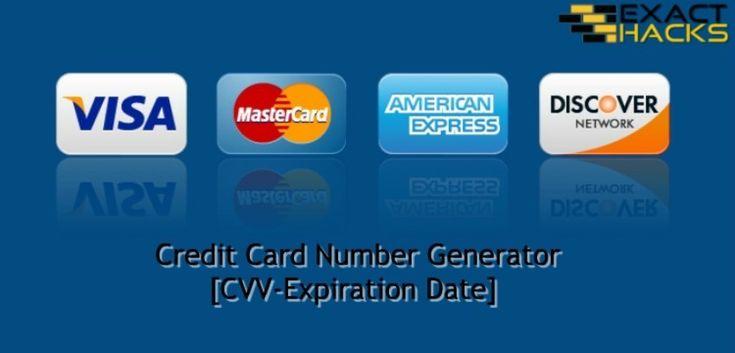 Credit card number generator cvvexpiration date exact