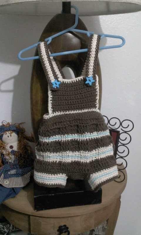 Mameluko a crochet para bebe