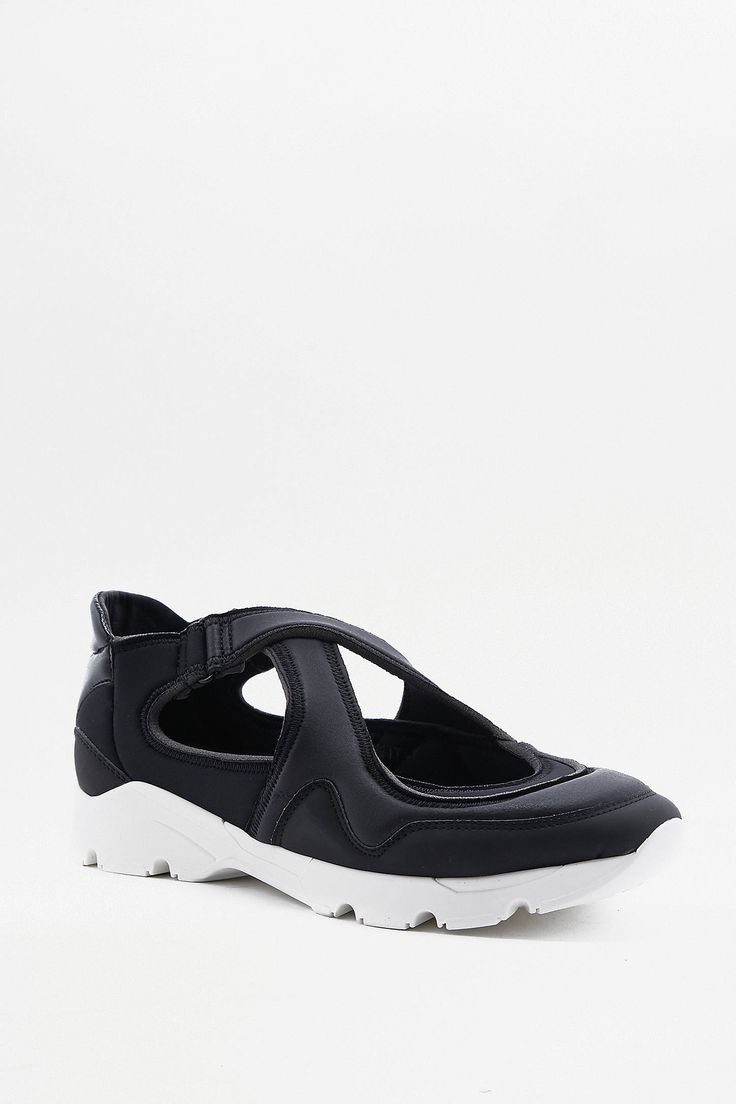 Slide View: 1: MM6 All Black Trainers
