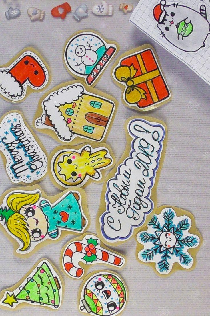 Милые новогодние наклейки ткань цвета хаки купить в нижнем новгороде
