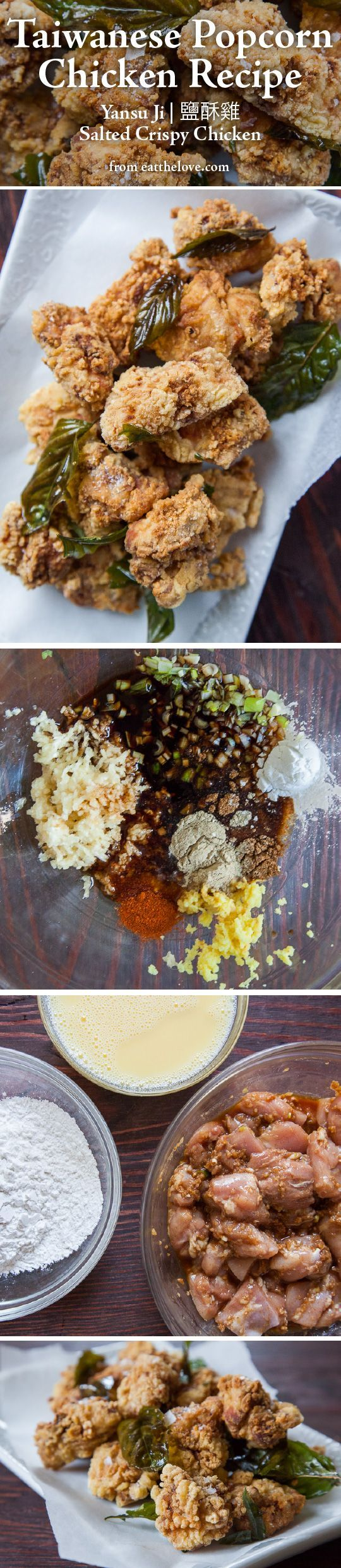 Taiwanese Popcorn Chicken, otherwise known as Yansu Ji or Salted Crispy Chicken. Photo and recipe by Irvin Lin of Eat the Love.