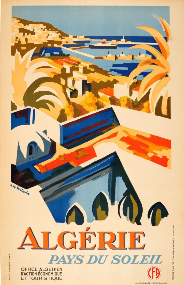 24x36 Paris France 1930s Classic French Vintage Travel Poster