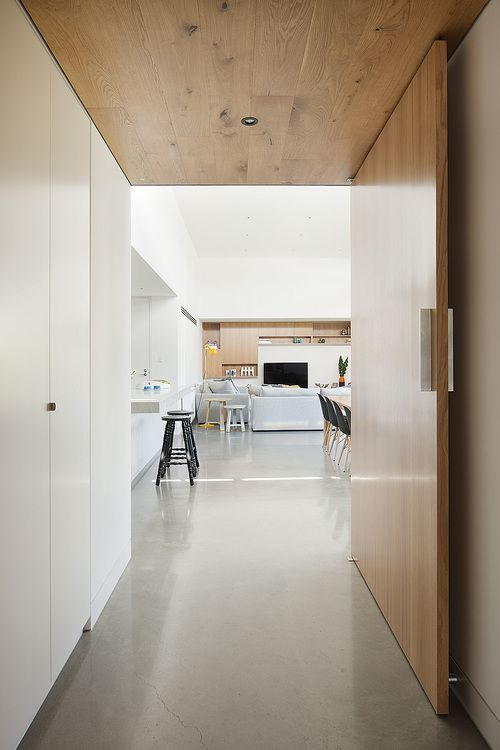 door | open plan living | Canopy House - Bower Architecture