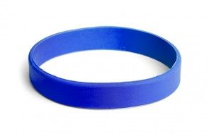 Blue solid color or custom printed silicone rubber wristbands for events