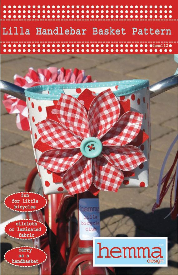 fabric bike basket -- pattern.  if i buy you the pattern, who wants to make this for us?