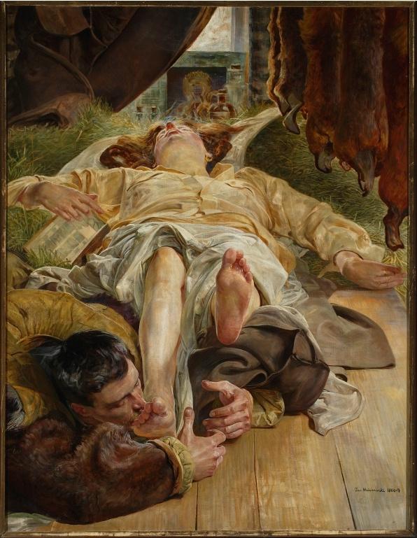 Jacek Malczewski  Death of Ellenai  Śmierć Ellenai  1906/1907