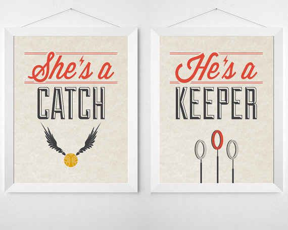 Hang these on the back of you and your sweetheart's chairs at the head table.