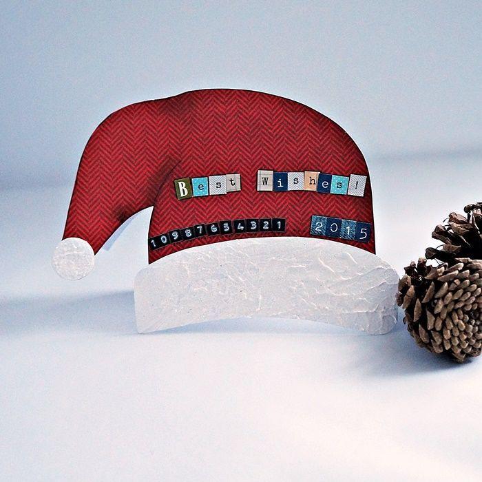 Best wishes! – Kartki bożonarodzeniowe - kolor: czerwony, biały, wymiary: 12x16cm – Artillo