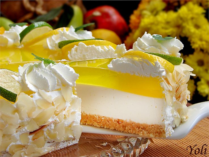 The pictures are enough to start drooling over this delectable lemon cheesecake!  Jolien taste: Lemon cheesecake