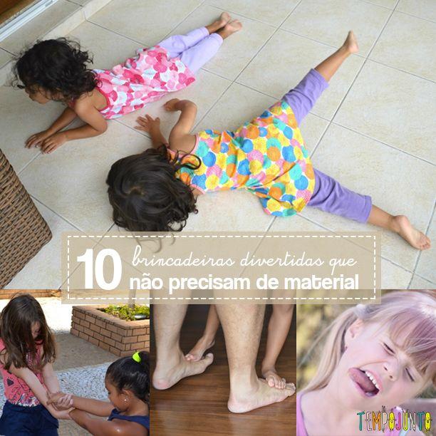 Uma lista de 10 brincadeiras divertidas que você faz com as crianças a qualquer hora e em qualquer lugar usando apenas o corpo e a voz.