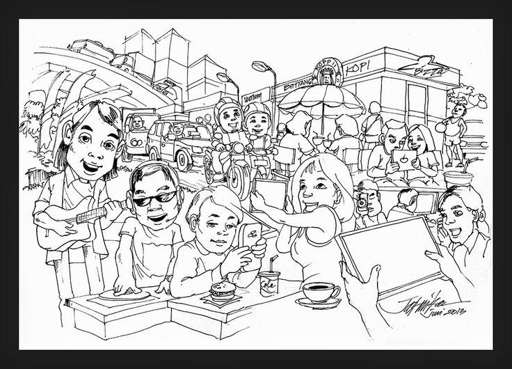 jatmika sketch & drawing: corat-coret gaya hidup / life style kaum urban
