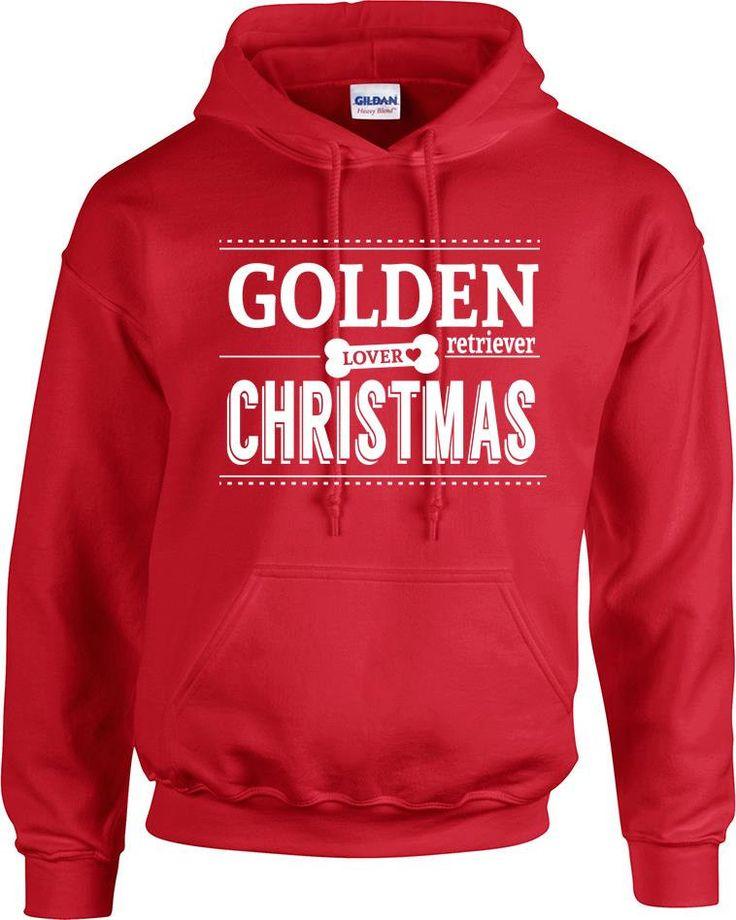 golden retriever lover loves Christmas hoodies hooded sweatshirt, christmas gift, golden retriever dog lover, pet lover, girl who love dog by RingAndDonut on Etsy