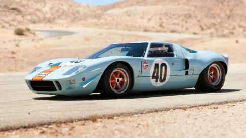 Original 1960's Ford GT40. Apparently the purr from these things could have dismantled the Berlin Wall by simply turning the key.