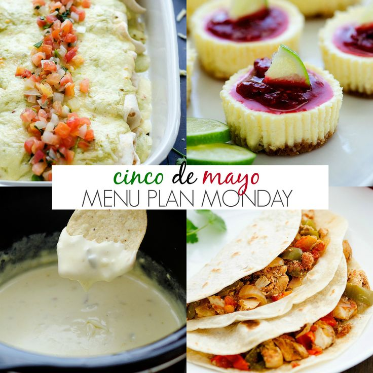 Happy Monday, my friends! Today's menu is all my favorite Mexican food recipes here on the blog! From tacos, burritos, enchiladas and even a few Mexican inspired desserts thrown in the mix. Any of these delicious ideas would be perfect for your Cinco de Mayo celebration on Thursday! I am personally going to be making... Read More »