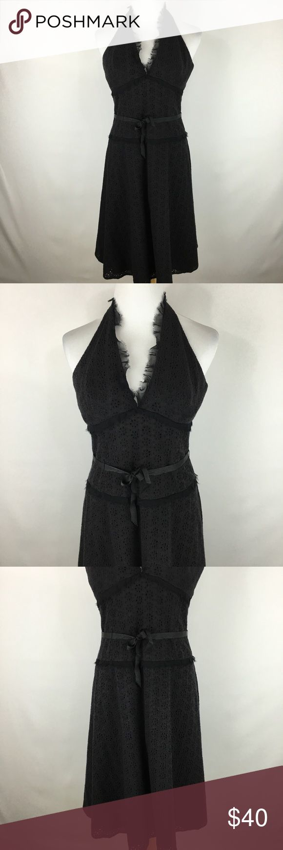 Laundry by Shelli Segal eyelet halter dress sz 4 Laundry by Shelli Segal eyelet halter dress sz 4. Gently worn in great condition. Laundry By Shelli Segal Dresses Midi