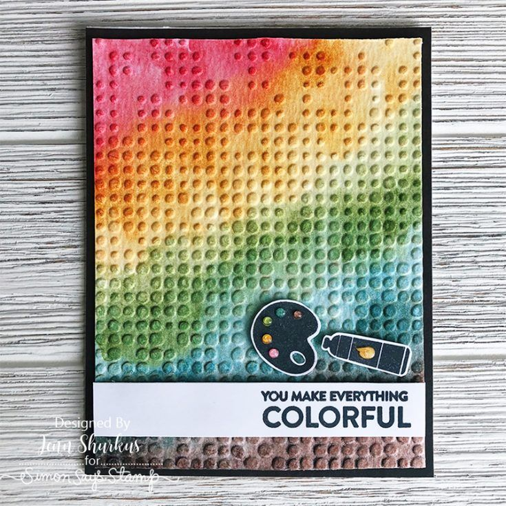 Simon Says Stamp Colorful Crafty Life card kit! Project by Jenn Shurkus!