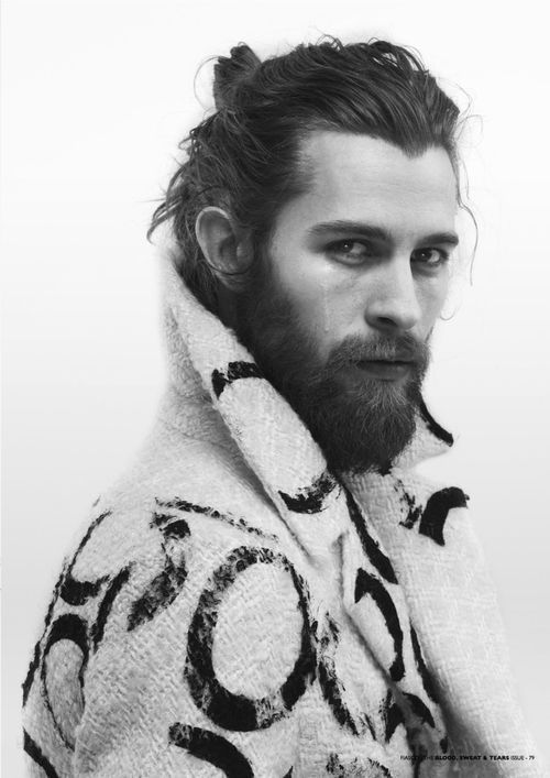 Beard+manbun with Long hair