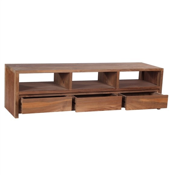 The 'Gerupuk' TV Unit – beautiful and unique, solid wood TV Unit made from 100% eco-friendly solid reclaimed teak.