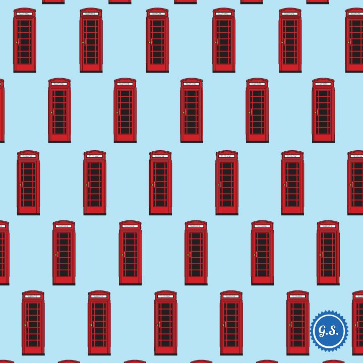 Pattern: British Telephone Boxes #graphic_design #pattern #british #telephone_boxes