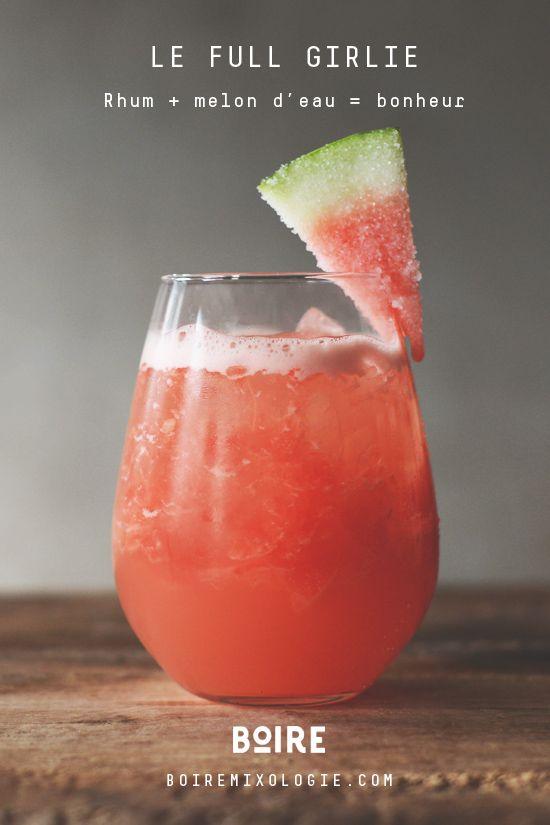 Le cocktail Full Girlie, un mélange de rhum et de melon d'eau. Un pur bonheur!