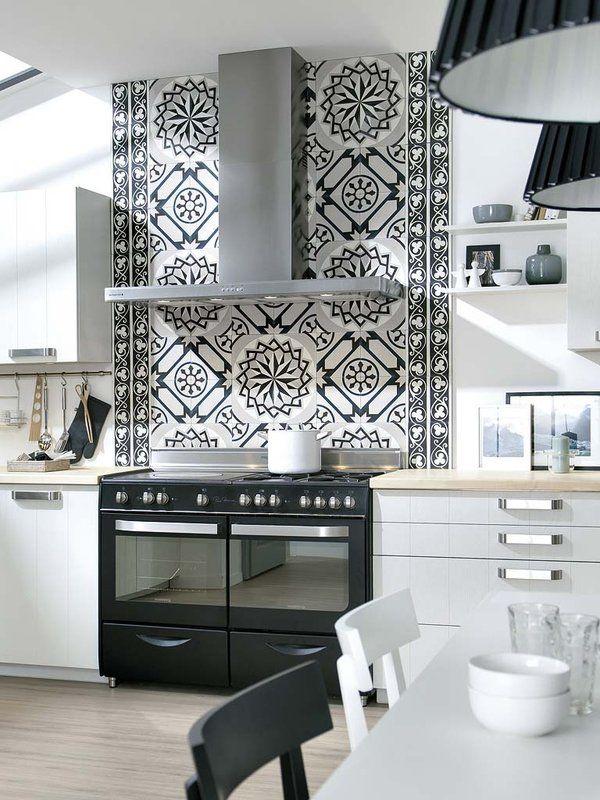 M s de 25 ideas incre bles sobre cocinas en blanco y negro - Cocinas en blanco y negro ...