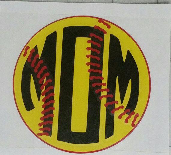 Sports Decal Softball MOM Car decal Yeti by WoodlandEssentials