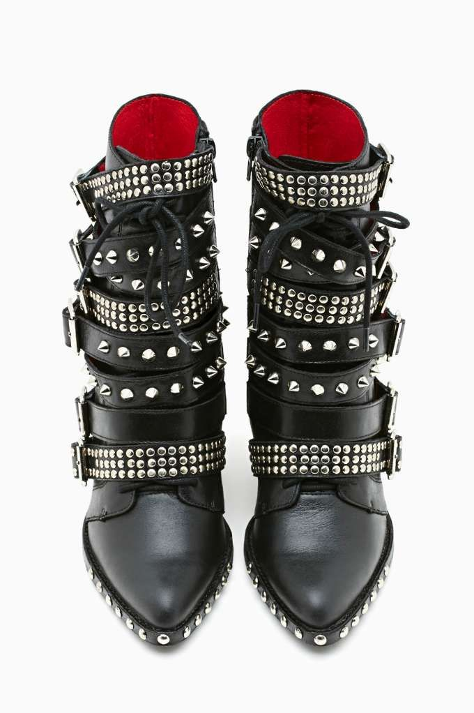 Jeffrey Campbell Draco Strapped Stud Boot, #NastyGal bloommultimedia.com