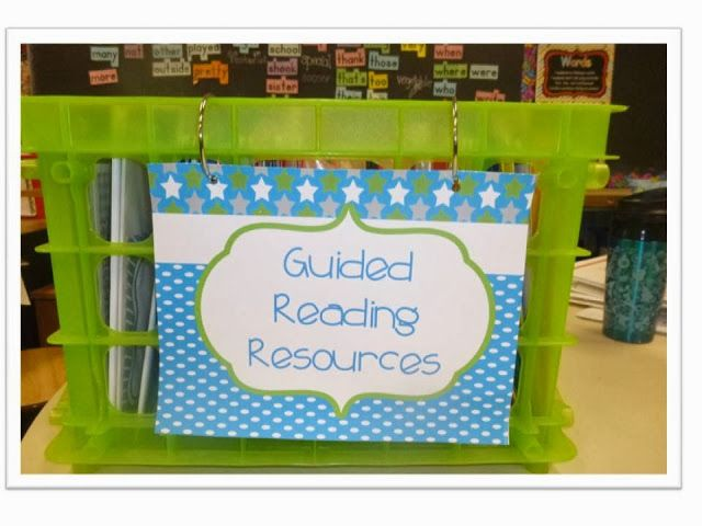 Guided Reading Resource Organization - The Organized Classroom Blog