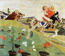 Witold Wojtkiewicz Porwanie królewny (Ucieczka), 1908