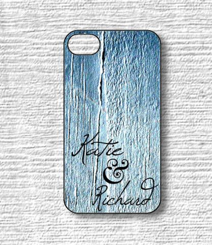 Custom Names iphone Cases - Blue Jean on Wood - Samsung Galaxy S3 S4 Cases