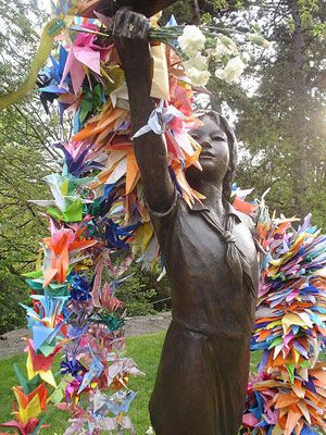 Sadako and the Thousand Paper Cranes: Fold 1,000 cranes and the gold will grant you a wish. Doing this by next year.
