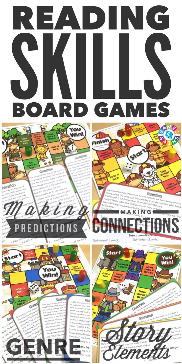 """""""My students ask to play these everyday!"""" Students will love to practice making predictions, making connections, genre, and story elements with these engaging reading board games. Each game comes with a game board and 25+ game cards to help student practice these skills in a fun and exciting way!"""
